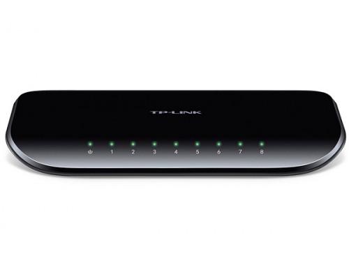 Коммутатор TP-Link, TL-SG1008D, Ethernet RJ45, 8x Ethernet 1000 Мбит, с, Auto MDI, MDIX