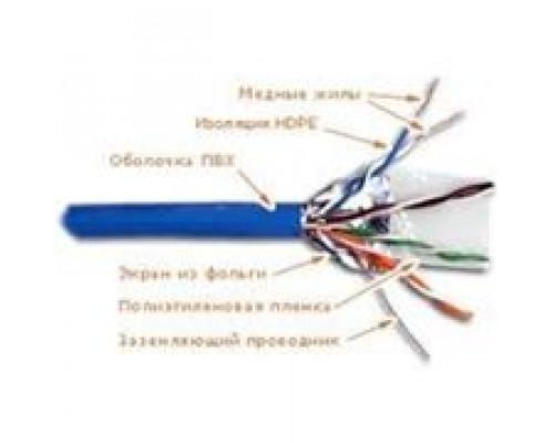 Кабель сетевой UTP Cat.6e, UTP, 4x2x1/0.40 CU mm., PVC, 305 м/б, медные жилы, катушка, синий