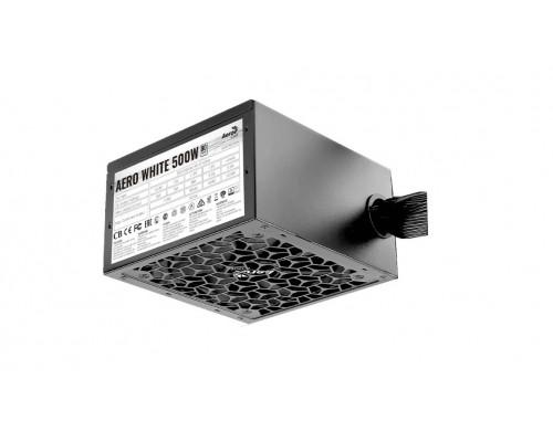 Блок питания AeroCool, Aero White, 500 W, 1 Fan (120 мм), 20+4 pin, PCI-E x 2, SATA x 5, IDE x 4