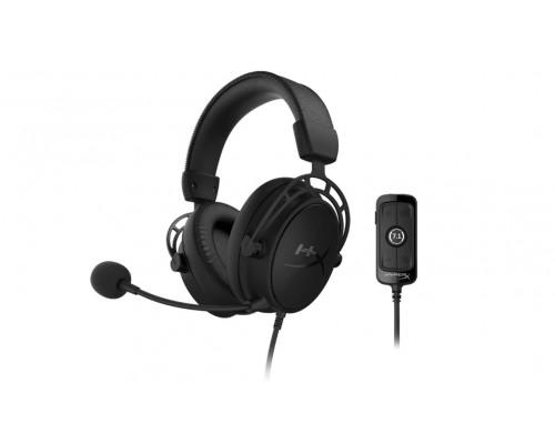 Наушники Kingston HyperX Cloud Alpha S BLACKOUT HX-HSCAS-BK/WW, Игровая гарнитура, Микрофон съёмный