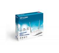 Модем TP-Link, TD-W8961N, 300 Мбит, с, ADSL Wi-Fi  точка доступа, RJ45x4,RJ11, частота 2.4ГГц, WEP, W