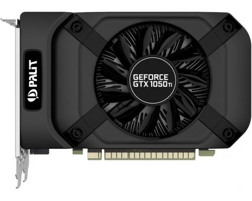 Видео карта PALIT, Nvidia GeForce GTX1050Ti, STORMX, 4 Gb, 128 bit, GDDR5, 1290Mhz, 1392Mhz, DVI/HDM