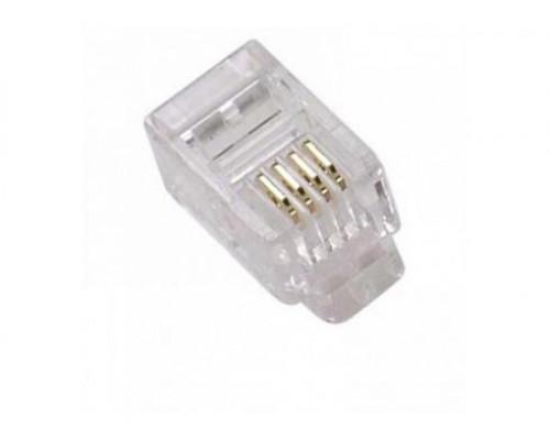 Коннектор обжимной RJ-11 UTP RJ-11, 4 pin
