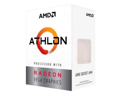 Процессор AMD Athlon 200GE, 3.2Gh(Max) , AM4, 2C, 4T, 5MB(L2+L3), 35W, Radeon Vega Graphics OEM